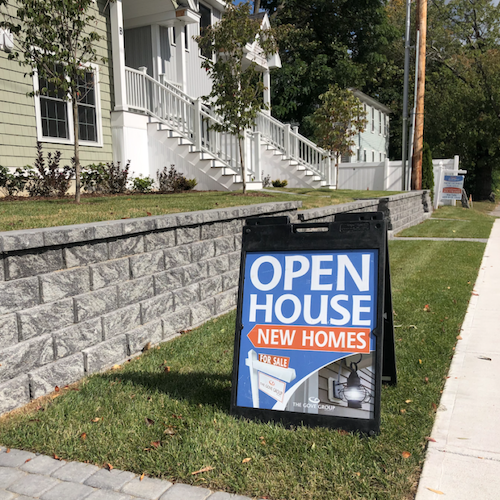 Open House New Homes Sign>