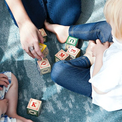 Kids Play with Blocks>