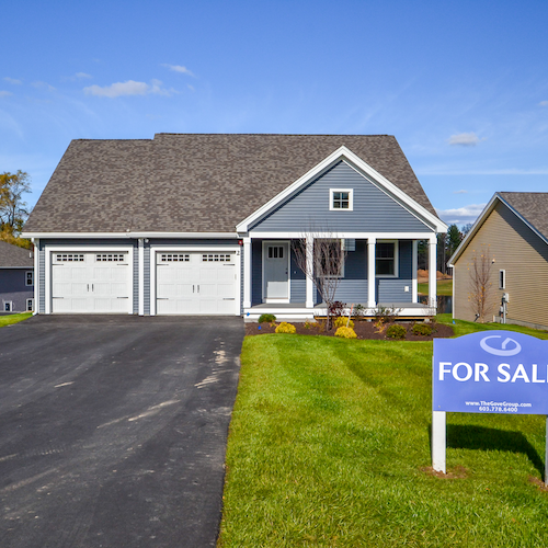Home with For Sale Sign>