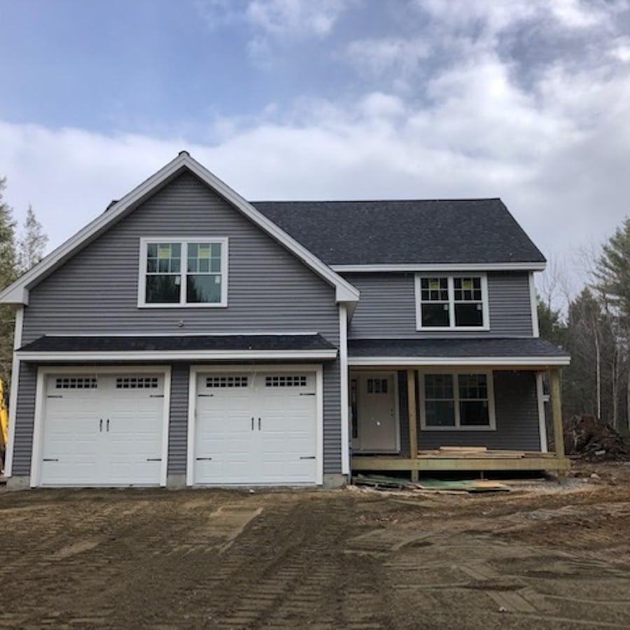 grey home under construction