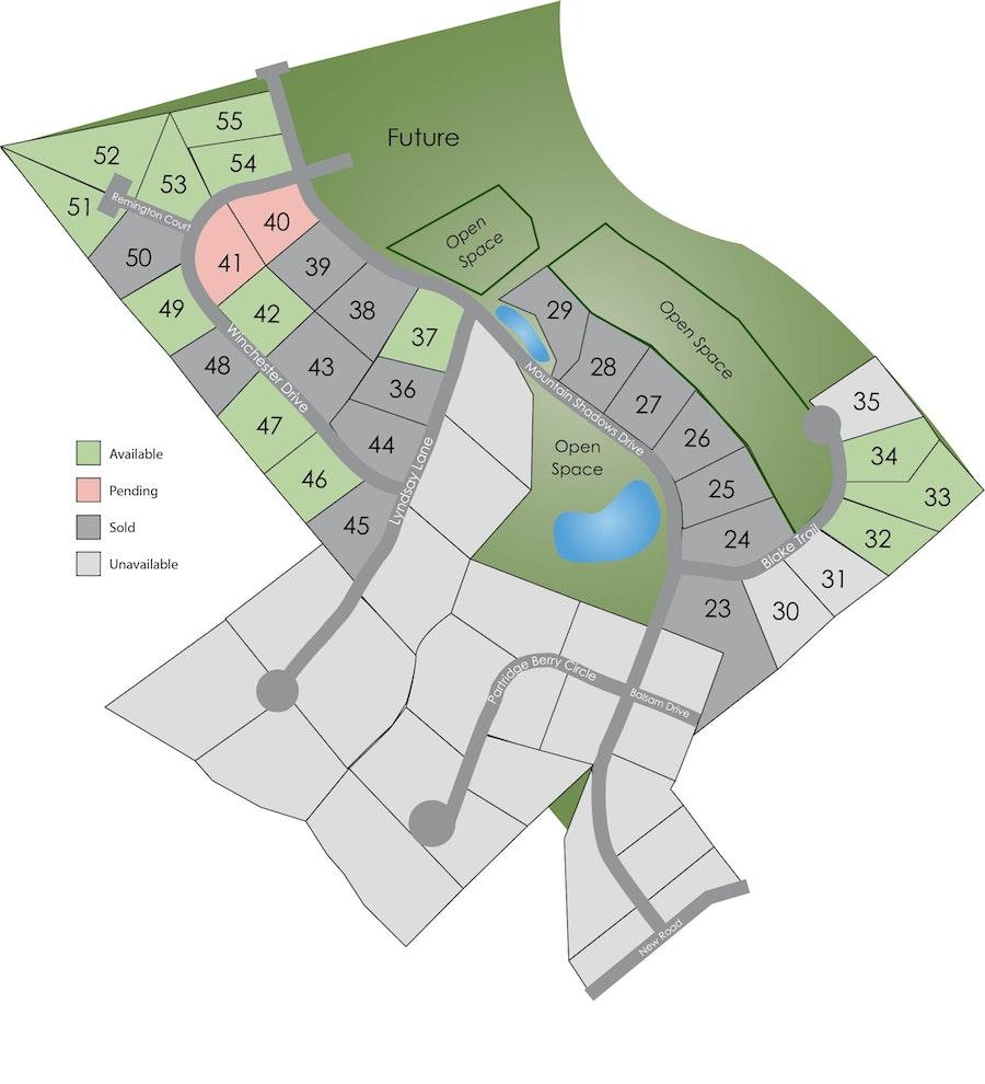 Site Plan for Mountain Shadows