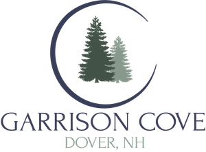 garrison cove logo with trees