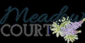 logo with purple flowers
