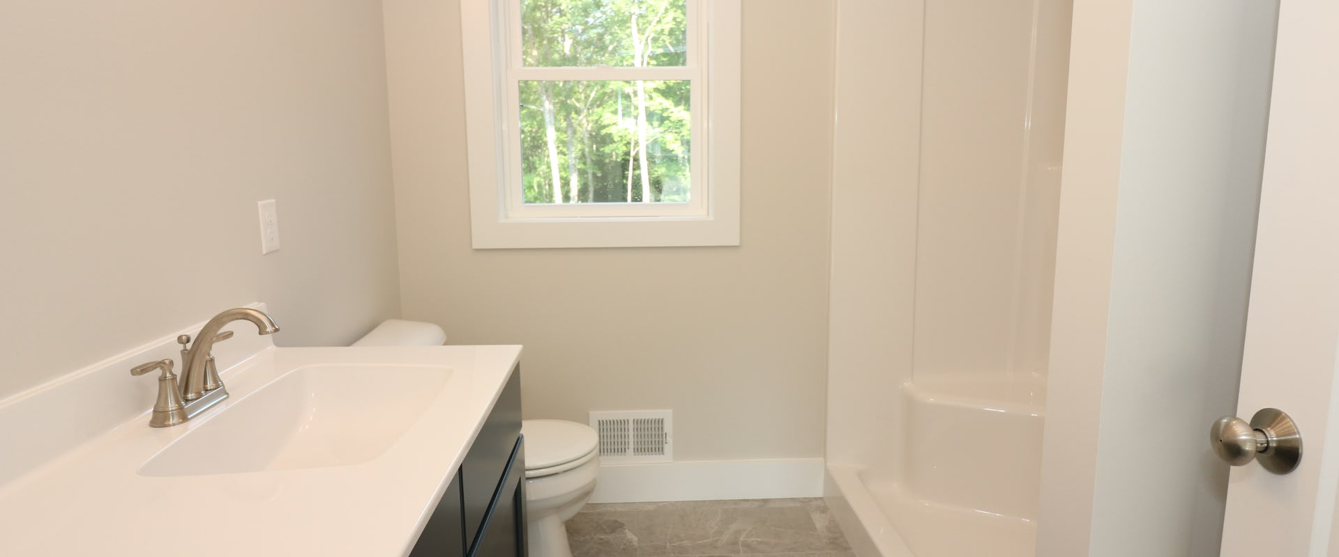 bathroom in new home