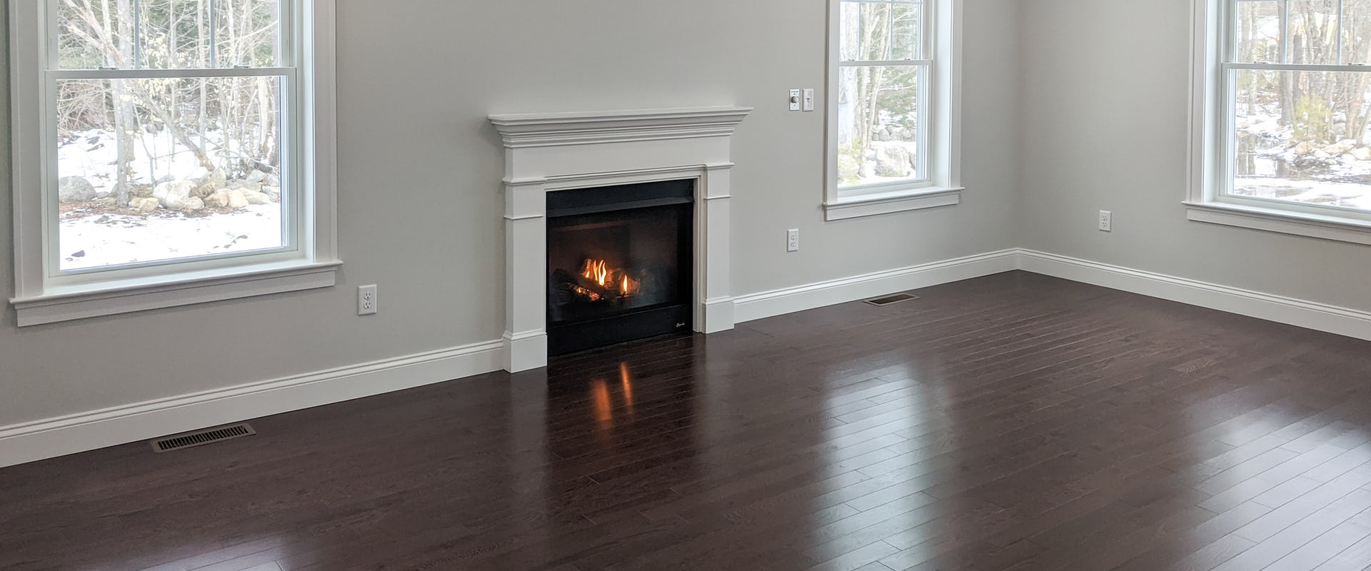 fireplace in new home