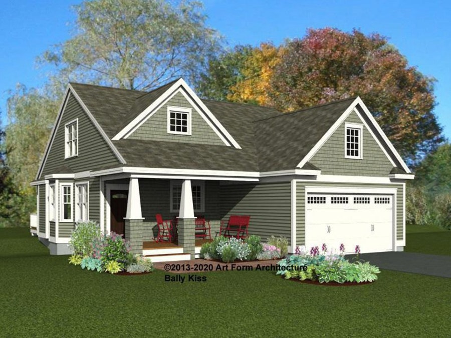 Bally Kiss Cottage front rendering