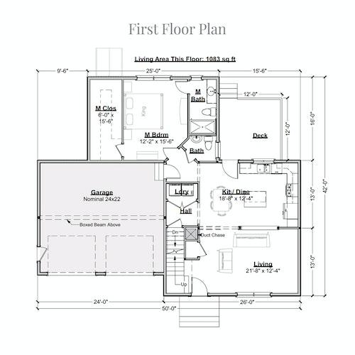 Cottage Divan first floor layout