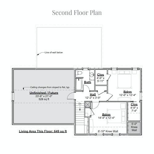 Cottage Divan second floor layout