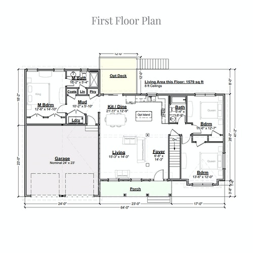 Gooseberry Ranch first floor layout