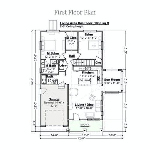 Pollyanna Expanded first floor layout