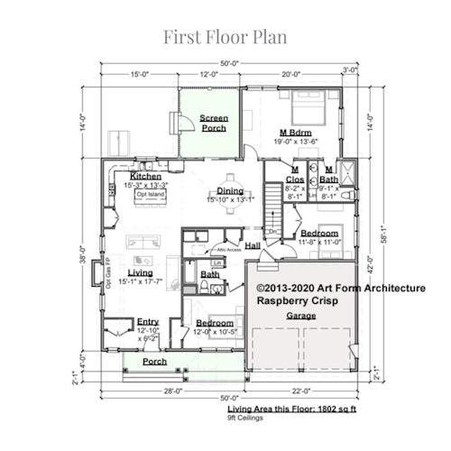 Raspberry Crisp first floor layout