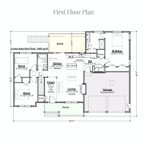 Strawberry Ranch Modified first floor layout