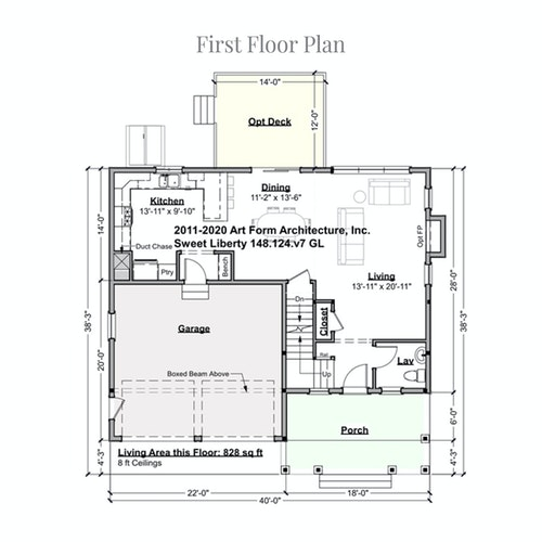 Sweet Liberty first floor layout