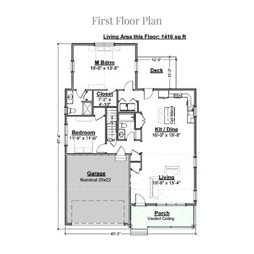 Vanilla Crescent first floor layout