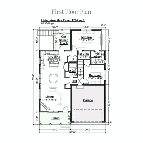 Vanilla Torte first floor layout